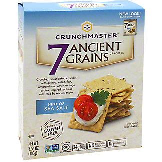 Crunchmaster Gluten Free Hint of Sea Salt 7 Ancient Grains Crackers,3.5 OZ