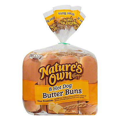 Nature's Own Sliced Butter Buns Hot Dog, 8 ct