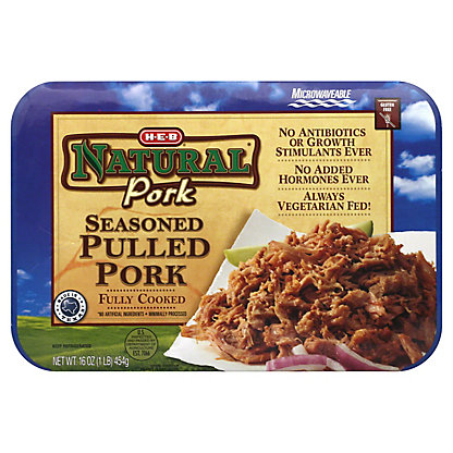 H-E-B Natural Seasoned Pulled Pork,16 OZ