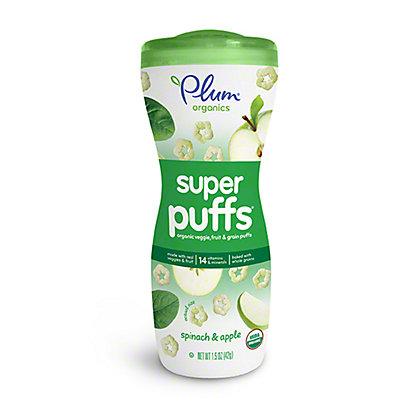 Plum Organics Baby Super Greens Spinach & Apple Super Puffs, 1.5 oz