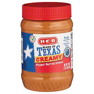 H-E-B Creamy Peanut Butter,18.00 oz