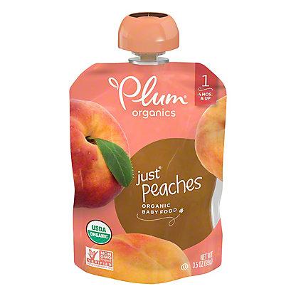 Plum Organics Stage 1 Just Peaches Baby Food, 3.5 oz