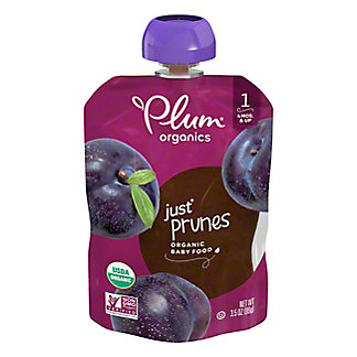 Plum Organics Stage 1 Just Prunes Baby Food, 3.5 oz