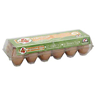 4Grain Vegetarian Large Brown Eggs,12 ct