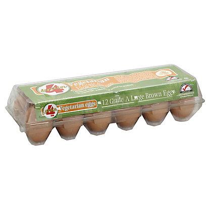 4Grain Vegetarian Large Brown Eggs,12 ct