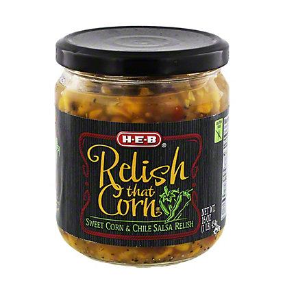 H-E-B Relish that Corn, Sweet Corn and Chile Salsa Relish,16 OZ
