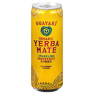 Guayaki Sparkling Yerba Mate Grapefruit Ginger,12 fl oz