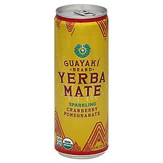 Guayaki Yerba Mate, Organic Brand, Sparkling, Cranberry Pomegranate,12.00 oz