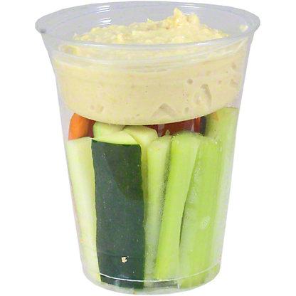 Chef Prepared Crudite Cup with Hummus, ea