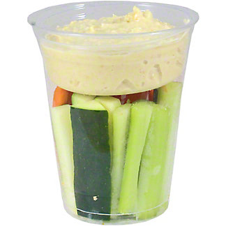 Chef Prepared Crudite Cup with Hummus, ea
