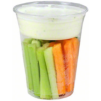 Chef Prepared Crudite Cup with Ranch Dressing, ea