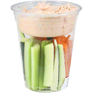 Chef Prepared Crudite Cup with Love Dip, ea