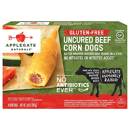 Applegate Naturals Gluten Free Uncured Beef Corn Dogs,4 CT