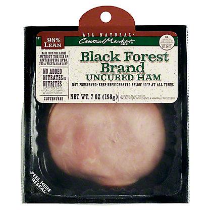 Central Market Black Forest Brand Uncured Ham Slices, 7 oz