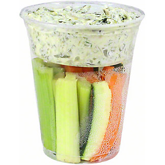 Chef Prepared Crudite Cup with Cold Spinach Dip, ea