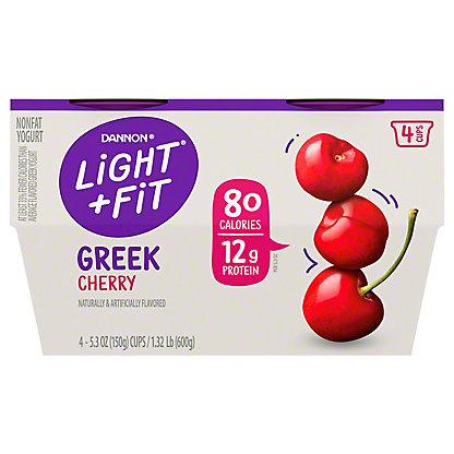 Dannon Light & Fit Nonfat Cherry Greek Yogurt,4 ct