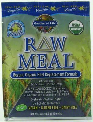 Garden Of Life Raw Organic Meal Vanilla Shake Meal Replacement Powder 2 4 Oz Central Market