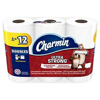Charmin Ultra Strong Double Roll Bath Tissue, 6 ct
