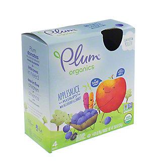 Plum Organics Mashups Blueberry Blitz Fruit and Veggie Smoothie, 4 ct