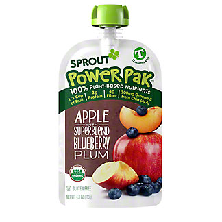 Sprout Apple Plum Blueberry with Butternut Squash Organic Toddler Puree,4.22 oz