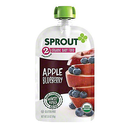 Sprout Stage 2 Apple Blueberry Organic Baby Food,4 oz