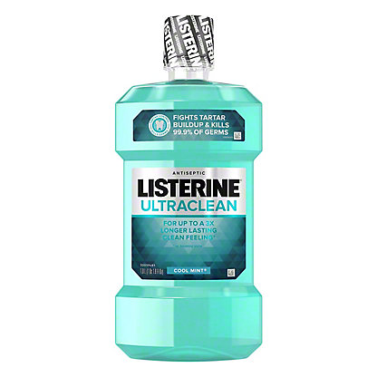 Listerine Ultraclean Cool Mint Antiseptic Mouthwash, 1 L