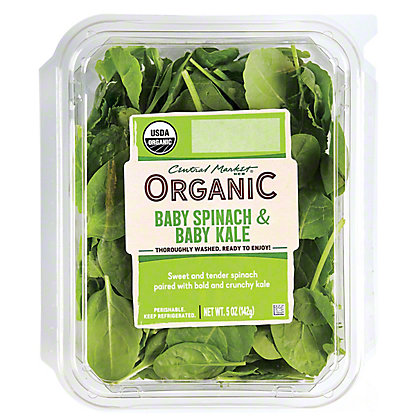 Central Market Organics Baby Spinach and Baby Kale, 5 oz