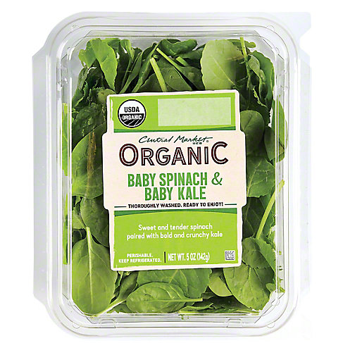Central Market Organics Baby Spinach & Baby Kale, 5 OZ
