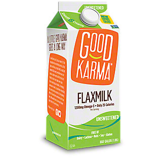 Good Karma Unsweetened Flax Milk, 1/2 gal