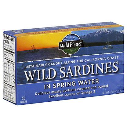 Wild Planet Wild Sardines Spring Water,4.375 OZ