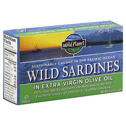 Wild Planet Wild Sardines Extra Virgin Olive Oil,4.38Z