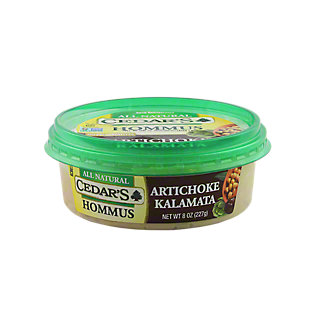 Cedar's All Natural Artichoke Kalamata Hommus,8 OZ