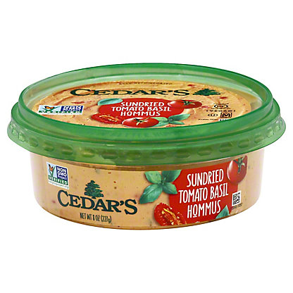 Cedar's Sundried Tomato & Basil Hommus,8 OZ