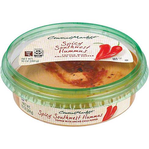 Central Market Spicy Texas Hummus, 10 OZ