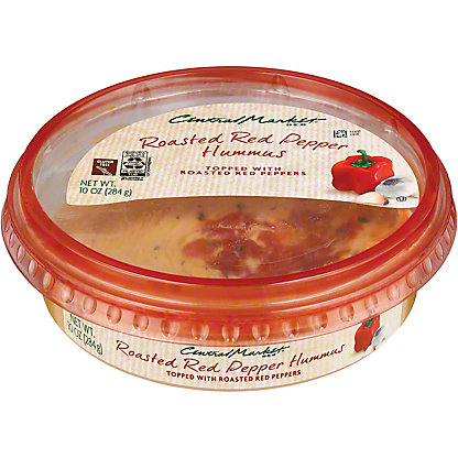 Central Market Roasted Red Pepper Hummus, 10 oz