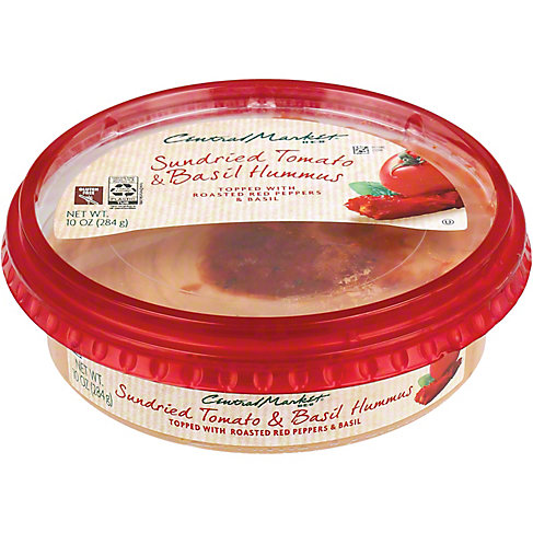 Central Market Sundried Tomato and Basil Hummus, 10 OZ
