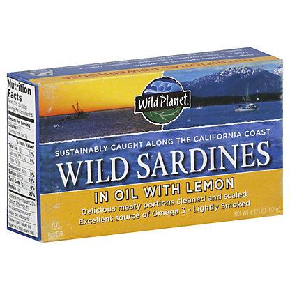 Wild Planet Wild Sardines In Evoo With Lemon,4.375 OZ