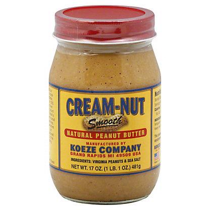Cream-Nut Smooth Natural Peanut Butter,17OZ