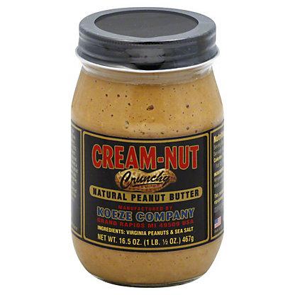 Cream-Nut Crunchy Natural Peanut Butter,16.5OZ
