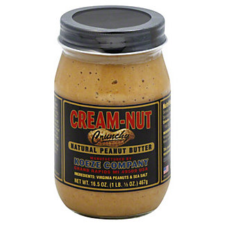 Cream-Nut Crunchy Natural Peanut Butter,16.5OZ