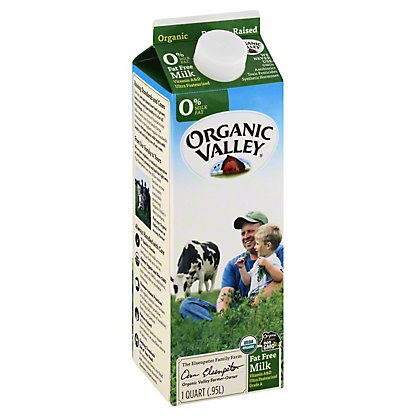 Organic Valley Fat Free Milk, 1 qt