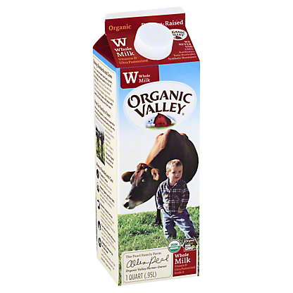 ORGANIC VALLEY Ultra Whole Milk, 1 qt