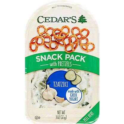 Cedars Snack Pack Tzatziki With Pretzels,3 OZ