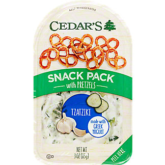 Cedars Snack Pack Tzatziki With Pretzels,3 OZ