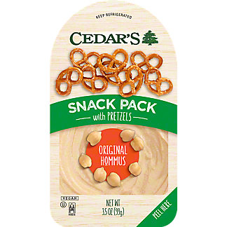 Cedar's Classic Original Hommus With Pretzels Snack Pack,3.5 oz