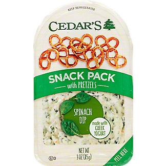 Cedar's Spinach Dip With Pretzels Snack Pack, 3 OZ