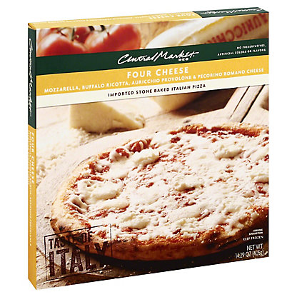 Central Market Four Cheese Pizza, 14.29 oz