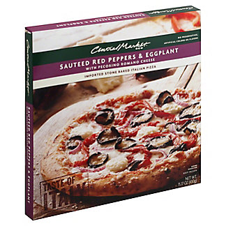Central Market Sauteed Red Peppers and Eggplant with Pecorino Romano Cheese Pizza, 15.17 oz
