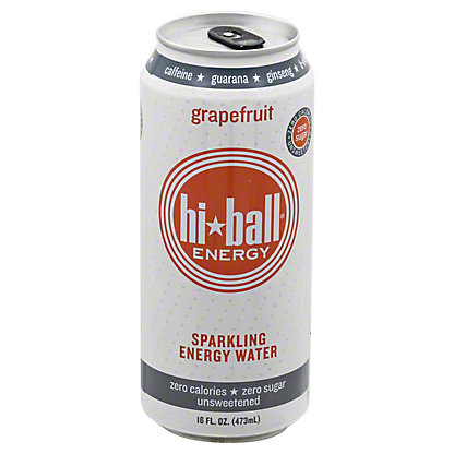 Hiball Energy Grapefruit Sparkling Energy Water,16 OZ