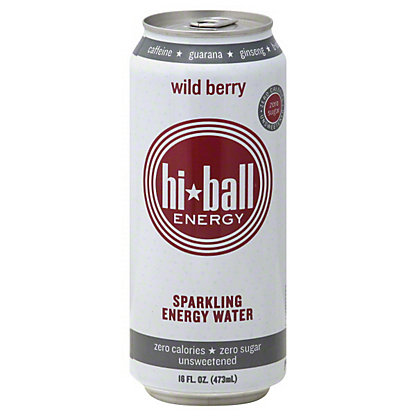 Hiball Energy Wild Berry Sparkling Energy Water,16 OZ